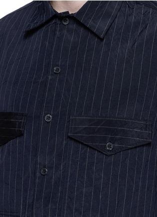 细节 - 点击放大 - SONG FOR THE MUTE - 褶裥设计竖纹皱面衬衫