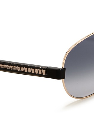 细节 - 点击放大 - Alexander McQueen - Ridge wire core aviator sunglasses