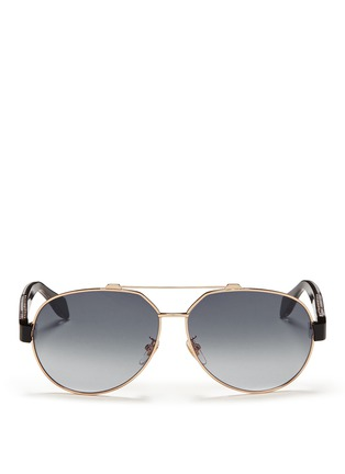 首图 - 点击放大 - Alexander McQueen - Ridge wire core aviator sunglasses