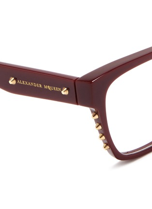 细节 - 点击放大 - Alexander McQueen - Stud square frame optical glasses