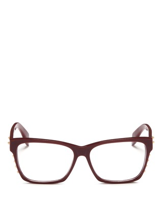 首图 - 点击放大 - Alexander McQueen - Stud square frame optical glasses