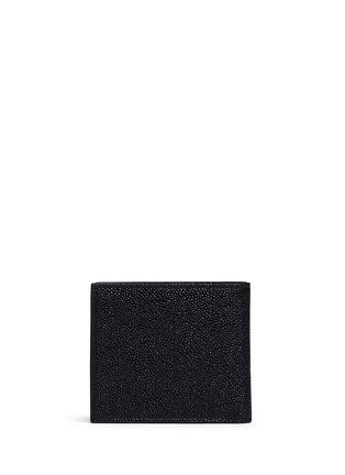 背面 - 点击放大 - THOM BROWNE - 条纹罗缎装饰粒面真皮钱包