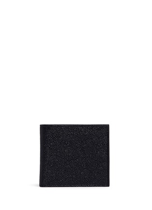 首图 - 点击放大 - THOM BROWNE - 条纹罗缎装饰粒面真皮钱包