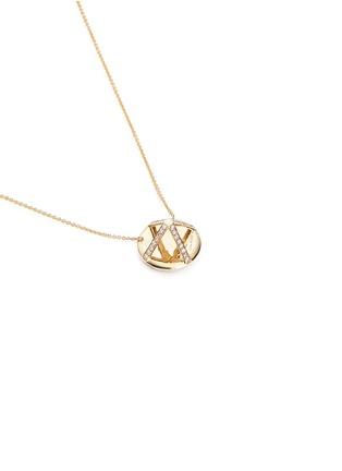 细节 - 点击放大 - LAMA HOURANI JEWELRY - 钻石水晶镶嵌项链