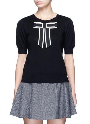 首图 - 点击放大 - ALICE + OLIVIA - DANIKA蝴蝶结饰羊毛针织衫