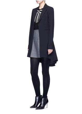 模特儿示范图 - 点击放大 - ALICE + OLIVIA - DANIKA蝴蝶结饰羊毛针织衫