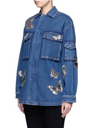 正面 -点击放大 - Valentino - 蝴蝶刺绣拼贴装饰丹宁夹克