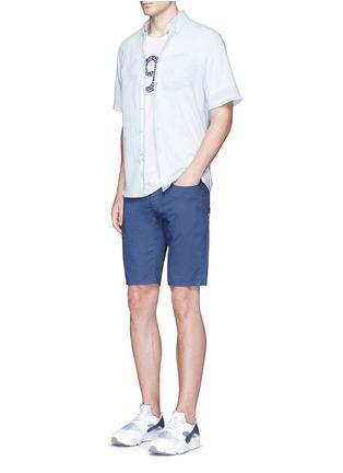 模特儿示范图 - 点击放大 - DENHAM - 数字造型纯棉T恤