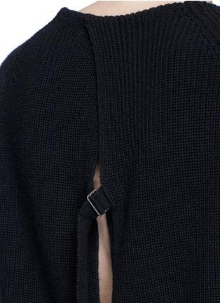 细节 - 点击放大 - HELMUT LANG - 层叠开衩棉混羊绒针织衫