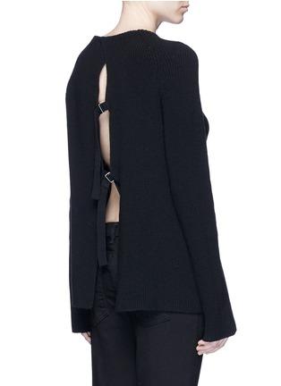 背面 - 点击放大 - HELMUT LANG - 层叠开衩棉混羊绒针织衫