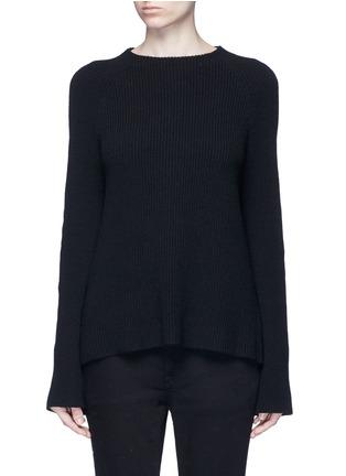 首图 - 点击放大 - HELMUT LANG - 层叠开衩棉混羊绒针织衫