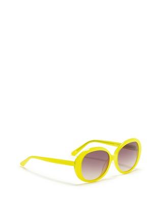 模特儿示范图 - 点击放大 - SONS + DAUGHTERS - JACKIE THINK圆框太阳眼镜