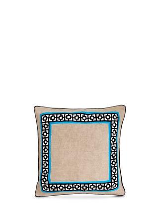 首图 –点击放大 - JONATHAN ADLER - Palm Springs亚麻刺绣靠垫