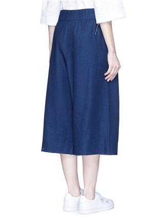 背面 - 点击放大 - FFIXXED STUDIOS - 中性款七分阔腿裙裤