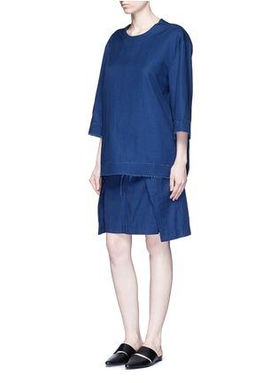 模特儿示范图 - 点击放大 - FFIXXED STUDIOS - 搭叠式层次半裙