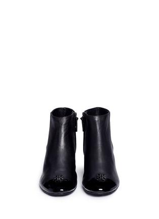 正面 -点击放大 - TORY BURCH - JOLIE漆皮拼接粗跟短靴