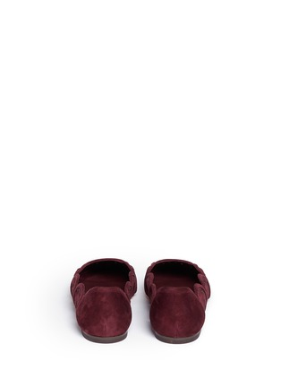 背面 - 点击放大 - TORY BURCH - LEYLA镂空绒面皮尖头平底鞋