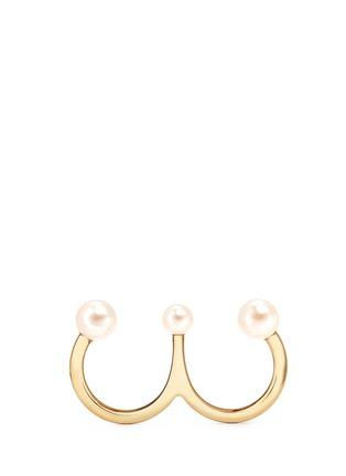 首图 - 点击放大 - CHLOÉ - 'Darcey' Swarovski pearl two finger ring