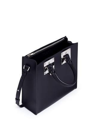 细节 - 点击放大 - SOPHIE HULME - Albion Square真皮箱型托特包