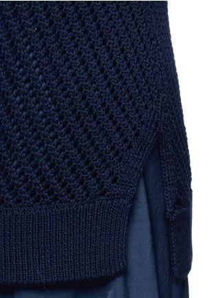 细节 - 点击放大 - VINCE - 网状纯棉针织背心