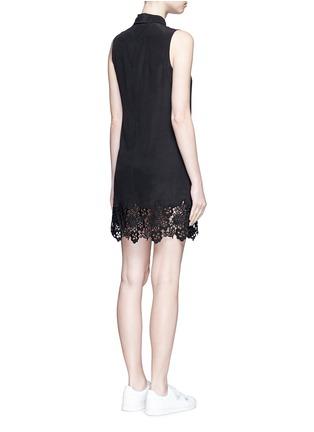 背面 - 点击放大 - EQUIPMENT - Lucida蕾丝拼接无袖真丝连衣裙