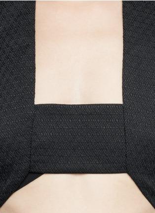 细节 - 点击放大 - DRIES VAN NOTEN - Diamond dot piqué bra top