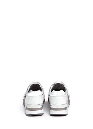 背面 - 点击放大 - MICHAEL KORS - ALLIE拼接镂纹压纹运动鞋