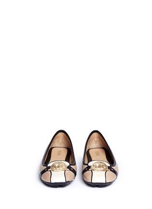 正面 - 点击放大 - MICHAEL KORS - Fulton金属扣装饰真皮平底鞋