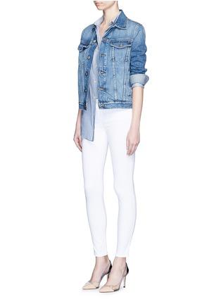 模特示范图 - 点击放大 - L'AGENCE - THE CHANTAL低腰修身长裤