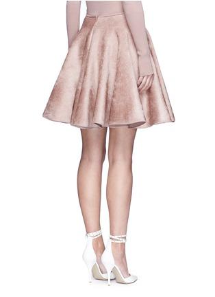 背面 - 点击放大 - ALAÏA - 天鹅绒质感喇叭半身裙