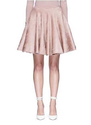首图 - 点击放大 - ALAÏA - 天鹅绒质感喇叭半身裙