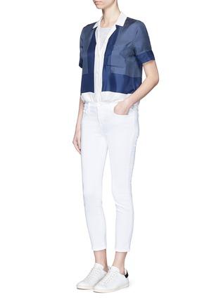 模特儿示范图 - 点击放大 - J Brand - CAPRI修身九分牛仔裤