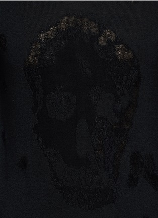 细节 - 点击放大 - Alexander McQueen - 骷髅头图案羊毛混棉针织衫