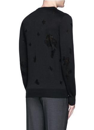 背面 - 点击放大 - ALEXANDER MCQUEEN - 骷髅头图案羊毛混棉针织衫