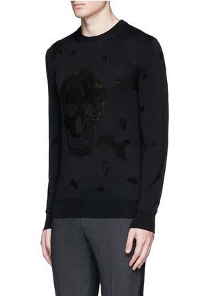 正面 -点击放大 - Alexander McQueen - 骷髅头图案羊毛混棉针织衫
