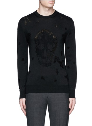 首图 - 点击放大 - ALEXANDER MCQUEEN - 骷髅头图案羊毛混棉针织衫