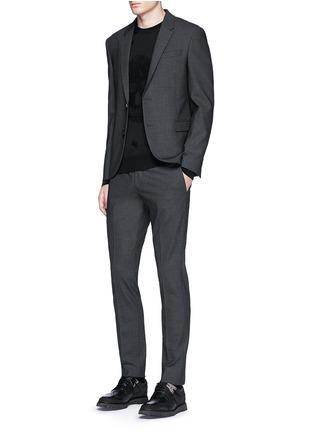 模特儿示范图 - 点击放大 - Alexander McQueen - 骷髅头图案羊毛混棉针织衫