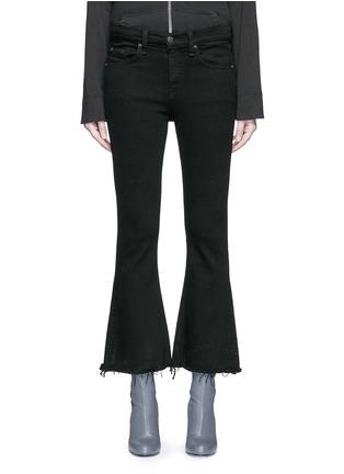 细节 - 点击放大 - RAG & BONE/JEAN - CROP FLARE须边九分长喇叭牛仔裤