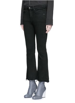 正面 -点击放大 - RAG & BONE/JEAN - CROP FLARE须边九分长喇叭牛仔裤
