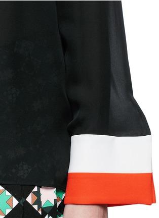 细节 - 点击放大 - EMILIO PUCCI - 袖口拼接混丝上衣