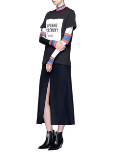 OPENING CEREMONY 品牌标志胶印纯棉T恤