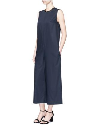 模特示范图 - 点击放大 - MS MIN - 直筒无袖羊毛连体裤