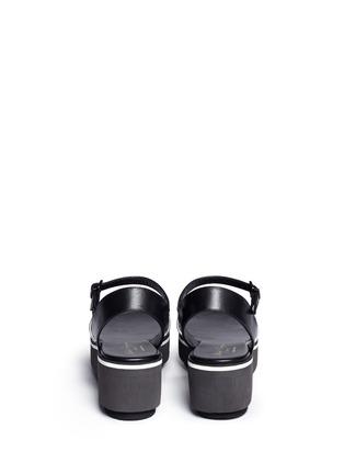 背面 - 点击放大 - Clergerie - PENNY拼色搭带坡跟凉鞋