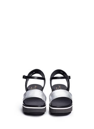 正面 - 点击放大 - Clergerie - PENNY拼色搭带坡跟凉鞋