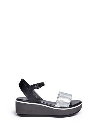 首图 - 点击放大 - Clergerie - PENNY拼色搭带坡跟凉鞋
