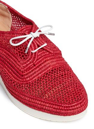细节 - 点击放大 - ROBERT CLERGERIE - VICOLEK草编系带厚底鞋
