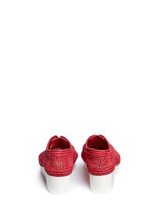 背面 - 点击放大 - CLERGERIE - VICOLEK草编系带厚底鞋