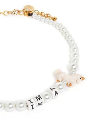 细节 - 点击放大 - VENESSA ARIZAGA - 独角兽造型玻璃珍珠项链