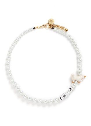 首图 - 点击放大 - VENESSA ARIZAGA - 独角兽造型玻璃珍珠项链