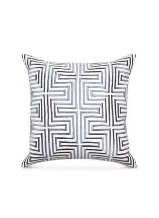 首图 –点击放大 - Jonathan Adler - Stella Maze刺绣迷宫图案亚麻靠垫